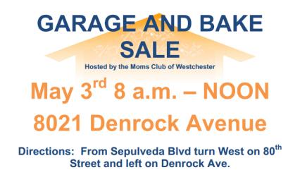 Moms Club Garage Sale Flyer Cover